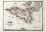 Buy An Old Map Of Sicily And Little Islands Around It at AllPosters.com