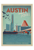 Congress Avenue Bridge, Austin, Texas Art Print