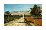 Paysage de provence. Vue de Saint-Saturnin-les-Apt, 1867