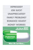Fukitol Second Place FUCKITALL Rx Prescription What Life Is About Dependency Death Bites Love Sucks Beatings Will Continue Until Morale Improves Sign Poster Follow your dreams