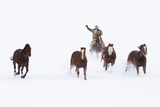 Cowboys and Horses in Winter