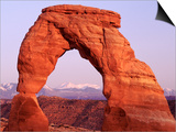 Delicate Arch and Surrounding Mountains