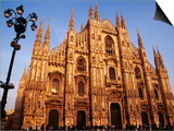 Buy Facade of the Cathedral, Milan, Italy at AllPosters.com