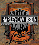 Harley Davidson Oil Can Label Sign Tin Sign