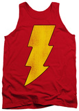 Tank Top: Shazam - Shazam Logo Distressed
