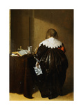 Painting of a Woman Seen from behind and Holding a Letter by Pieter Codde