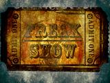 Freak Show Ticket 5 Freak Show 2.1 American Horror Story - Coven American Horror Story- Hotel Freak Show Ticket