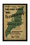Federal Music Project Presents the Comic Opera Die Fledermau