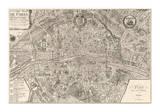 Plan de la Ville de Paris, 1715 Giclee Print