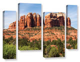 Sedona 2, 4 Piece Gallery-Wrapped Canvas Staggered Set