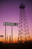 Obsolete Oil Rigs at Sunset, Russell, KS