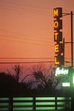 Motel's Neon Lights at Dusk, MI