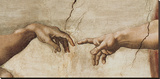 The Creation of Adam, c.1510 (detail) Stretched Canvas Print