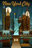 New York City, New York - Retro Skyline Jeremiah 29:11 - Inspirational Yellowstone National Park - Old Faithful Geyser and Bison Herd Sydney, Australia - Retro Skyline Chicago Illinois - Retro Skyline Ski Runs Signpost - Whistler, Canada Chicago, Illinois - Skyline at Night Bears and Spring Flowers - Yosemite National Park, California Florida - Lifeguard Shack and Palm Wine Bottle and Glass Group Geometric New York City, NY - Skyline at Night