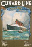 Cundard Line - Royal Mail Steamers - Vintage Poster
