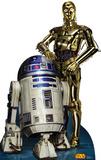 Star Wars - R2D2 & C3PO Lifesize Standup Cardboard Cutouts