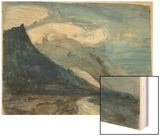 Moonlight, Chamonix, 1866 (W/C and Pencil on Paper)