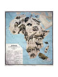 Map of Animals in Africa Sf