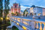 Franciscan Church of the Annunciation and Bridge over the Ljubljanica River