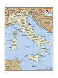 Buy Map of Italy at AllPosters.com