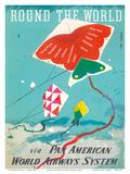Round the World - Kites - via Pan American World Airways