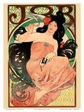 Job - Cigarette Rolling Papers Advertisement - Art Nouveau
