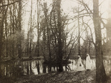 WWI: Marchesa in the Role of Red Cross Nurse Near a Pond