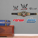 WWE Title Belt - Fathead Jr WWE: The Undertaker POP Figure John Cena Wwe Wrestling Poster WWE- John Cena Action Collage WWE- Roman Reigns