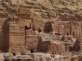 Nabatean Façade Tombs, 1st Century. A.D., Carved Sandstone, Petra, Jordan