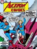 Superman: Action Comics Color Cover - Superman and the Introduction of Supergirl