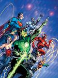 Justice League: Green Lantern, Flash, Aquaman, Wonder Woman, and Superman