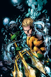 Justice League: Aquaman Surrounded by Sharp Teeth under Water