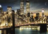 New York - Manhattan Lights Giant Poster