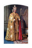 George VI in Coronation Robes: the Golden Imperial Mantle, with St Edward