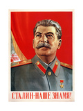 Stalin Is Our Banner!, Poster, 1948