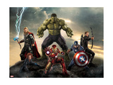 Thor, Hulk, Captain America, Hawkeye, and Iron Man from The Avengers: Age of Ultron