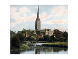 Salisbury Cathedral as Seen from the River Avon, Salisbury, Wiltshire, Early 20th Century Salisbury Cathedral, Wiltshire, 1924-1926 Salisbury Cathedral from the Bishop's Garden Looking across the Font of Salisbury Cathedral, Wiltshire, England, United Kingdom, Europe