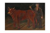 Farmer with Bull, 1916