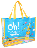 Dr. Seuss Oh the Places Large Recycled Shopper Ready for Anything (blue)