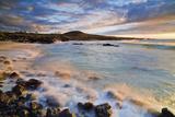 Kua Bay Beach Park at Sunset; Big Island, Hawaii, United States of America