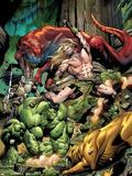 Incredible Hulks No.623 Cover: Ka-Zar and Hulk Fighting