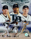 2004 Devil Rays Big 3 - Huff, Crawford, Baldelli &copy;Photofile