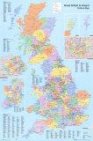 U.K. Political Map Poster