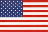 American Flag (Stars and Stripes) Poster United States of America