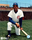 Billy Williams - Kneeling with bat
