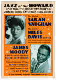 Sarah Vaughan and Miles Davis at the Howard Theatre, Washington D.C.