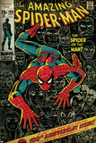 Marvel Comics Retro: The Amazing Spider-Man Comic Book Cover No.100, 100th Anniversary Issue (aged) The Amazing Spider-Man #700 Cover: Spider-Man, Venom