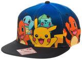 Pokemon Group Gradient Snapback Pokemon - AOP Sublimated Cap Pokemon Mega pokemon