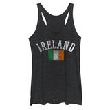 Juniors Tank Top: Distressed Irish Flag Super Mario- Running Blocks Dropkick Murphys- Jolly Roger Thin Lizzy - Four Leaf Clover