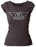 Juniors: Aerosmith- Logo Scoop Neck Aerosmith, Property of. Est. 1970 Boston, MA Aerosmith- Walk This Way aerosmith